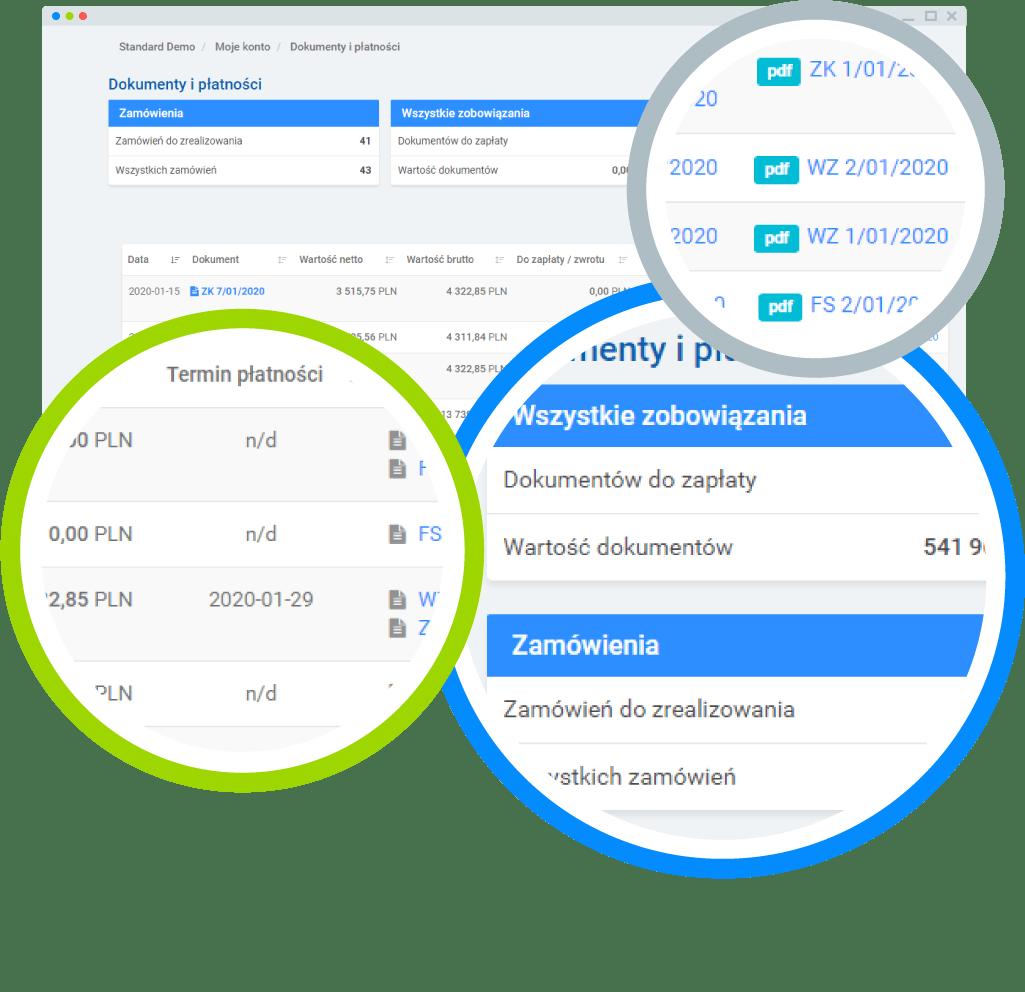 Możliwości platformy B2B - dokumenty klienta