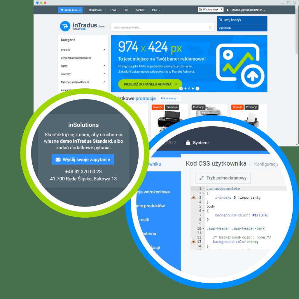 Możliwości platformy B2B - zmiany graficzne
